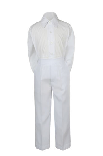2pc Baby Boy Toddler Teen Formal Party Tuxedo Suit White Shirt /& Pants set Sm-20