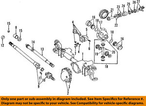 dodge chrysler oem 94 99 ram 1500 front axle stub axle shaft 4798322 rh ebay com front axle diagram 1999 vw cabrio toyota front axle diagram