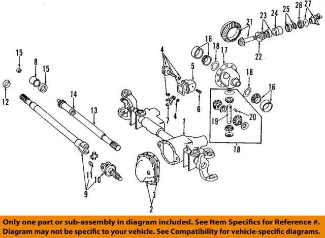 dodge chrysler oem 94 99 ram 1500 front axle stub axle. Black Bedroom Furniture Sets. Home Design Ideas