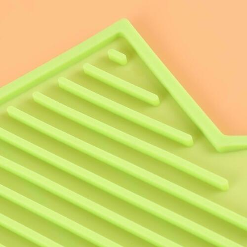 Silicone Dish Pan Pots Rack Drainer Kitchen Sink Drying Mat Pad Supplies LA