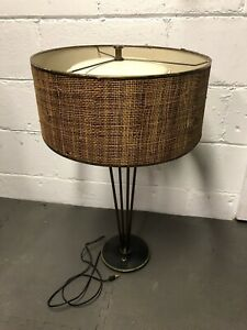 Details About Stiffel Mid Century Modern Atomic Sputnik Table Lamp W/ Orig  Shade 1950s Vintage