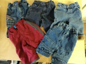 Lote De 5 Bebe Nino Talla 6 9 Meses Denim Blue Jeans Pantalones Vintage Lindo Vguc Ebay