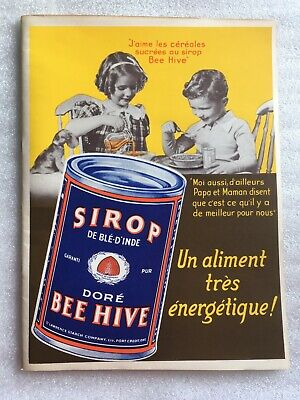NOS ST LAWRENCE STARCH BEE HIVE SCRIBBLER NOTE BOOK PORT CREDIT ONTARIO CANADA