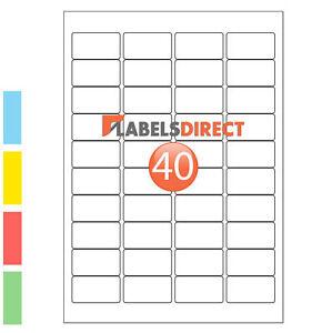 65 etichette per foglio autoadesivo appiccicoso A4 Indirizzo Etichette a Getto D/'inchiostro Stampante laser