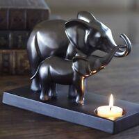 Partylite Majestic Pride Elephant & Baby Tealight Holder In Original Box