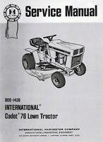 Cub Cadet Model 76 Service Manual Gss-1436 (03/1973)