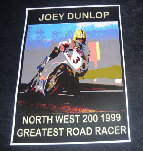 Joey Dunlop North West 200 1999 Art Poster Print