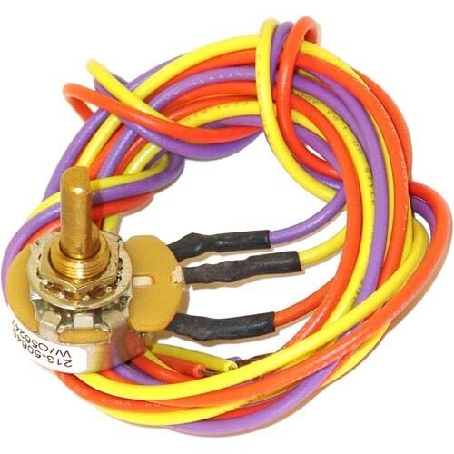 Star Mfg Gd-115351 Heat Control Bottom Potentiometer W//Wire Leads Holman//Star Oven 314Hx 461404