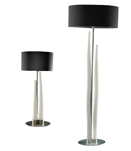 Modern Table Floor Lamp Black Shade