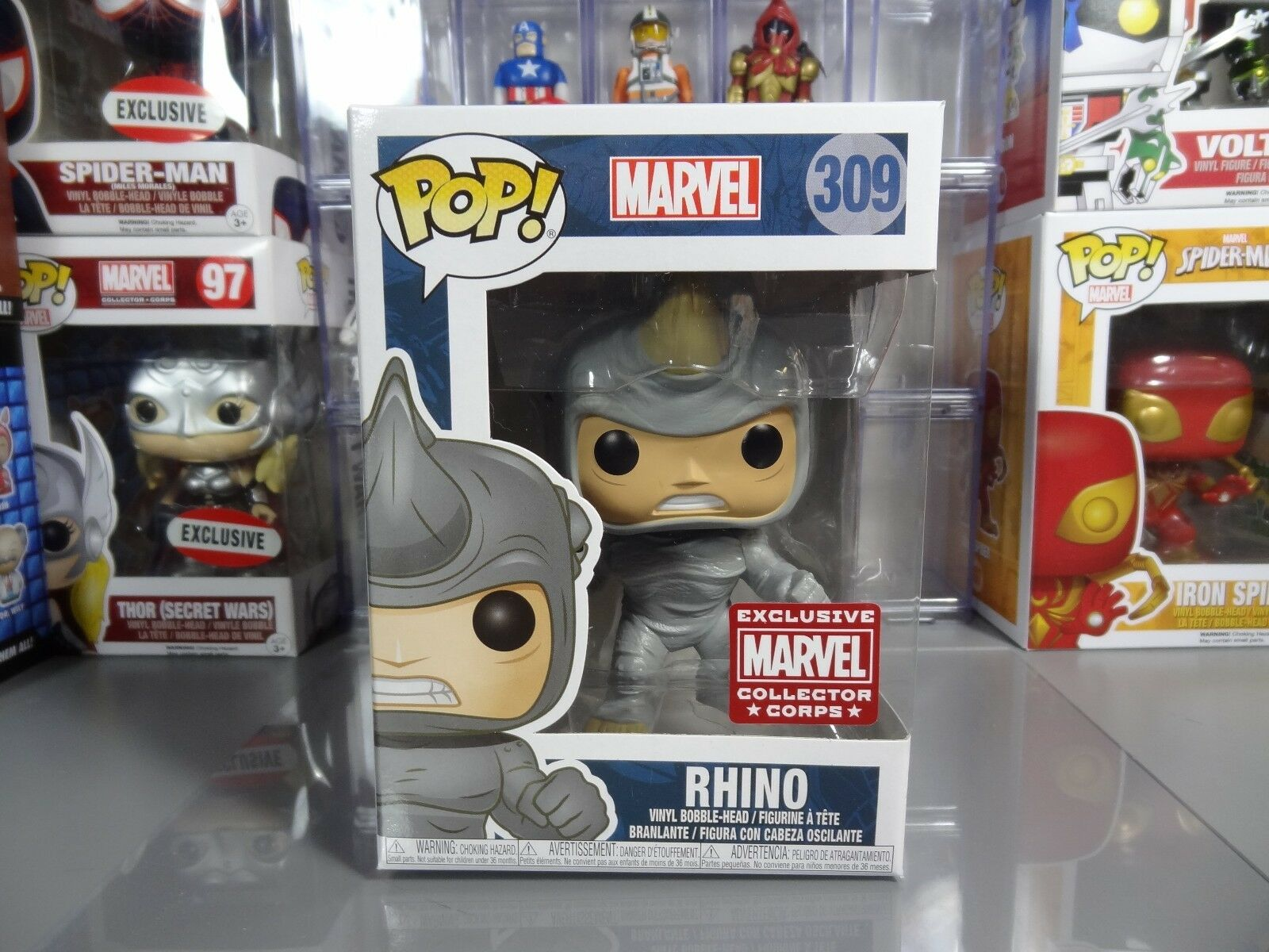 Funko POP  Marvel Collector Collector Collector Corps Exclusive Rhino  309 53ffc8