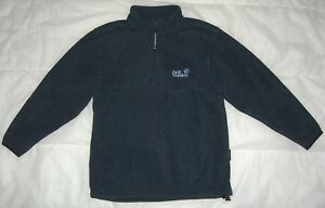 Details zu Jack Wolfskin Family Pullover Gr 140 blau NANUK Fleecepullover warm Nr.16589