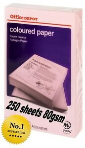 Office Depot Coloured Printer Copy Paper  A4 PINK 80gsm 1 ream 250 sheets - Harrow, United Kingdom - Office Depot Coloured Printer Copy Paper  A4 PINK 80gsm 1 ream 250 sheets - Harrow, United Kingdom