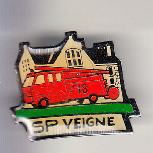 RARE-PINS-PIN-039-S-POMPIER-FIRE-CAMION-TRUCK-DAF-UNIC-VEIGNE-37-CB