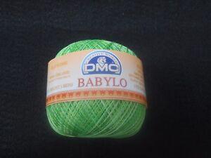 Dmc Babylo Crochet Cotton Thread 50g Size 30 Colour Multi Green