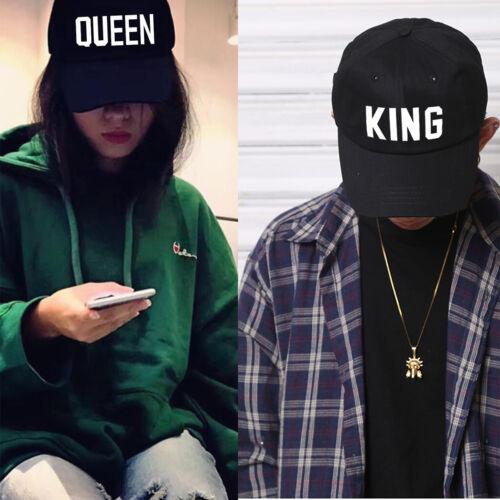 Men/'s Women/'s  Hip Hop Caps Baseball King Queen Cap Couple Lovers/' Snapback Hat