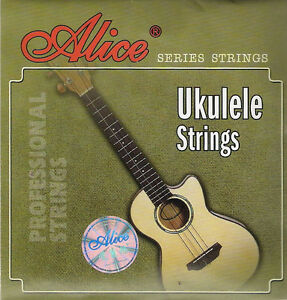 4 String Set of Black Nylon Ukulele Strings