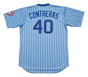 buy popular b5018 23fc2 Details about WILLSON CONTRERAS Chicago Cubs 1980's Majestic Cooperstown  Baseball Jersey