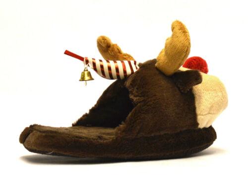 Womens Girls New Unisex Christmas Novelty Santa Rudolph Comfort Slippers UK 3-8