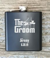 Personalized Groom Flask Godfather Inspired Engraved Bachelor Party Gift