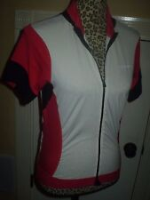 Womens GIORDANA Body Clone cycling Jersey size MEDIUM red white black full zip