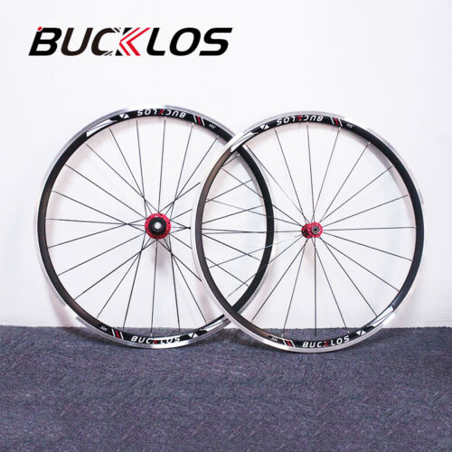 BUCKLOS QR 700c Road Bike Cycle Front Rear Wheelset for 7-11s Cassette 30mm Rims