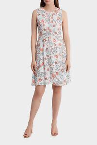 NEW-Basque-Lantern-Floral-Print-Tea-Dress-Assorted