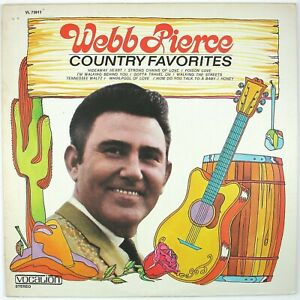WEBB-PIERCE-Country-Favorites-LP-1970-COUNTRY-NM-NM