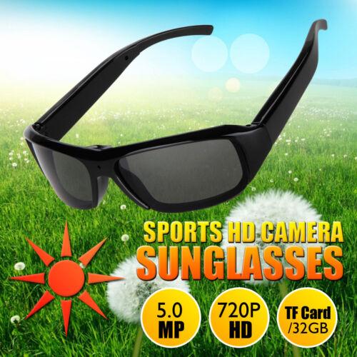 HD Video Spy Camera Sun Glasses 230mAh ABS Digital Audio Recorder DV Camcorder
