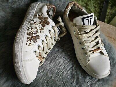 the best attitude 4a1c5 05104 Jette joop Schuhe Sneaker Weiß Gold Blumen Weich Leicht w. Neu 37 | eBay