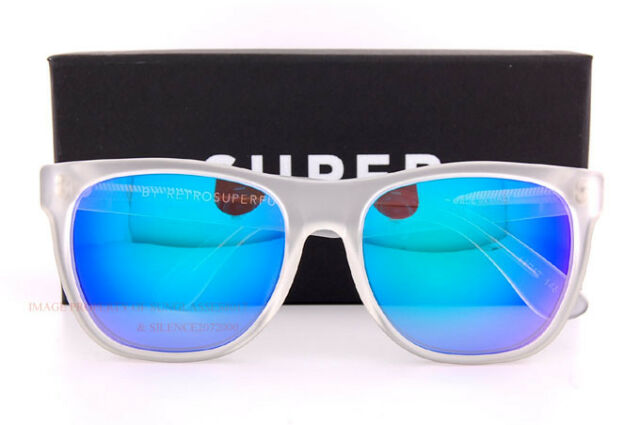 New SUPER by RETROSUPERFUTURE sunglasses Crystal 464 Crystal//Grey Lens by Zeiss