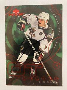 *SIGNED*  Keith Tkachuk 1998-99 (COYOTES) Upper Deck MVP OT Heroes #OT12