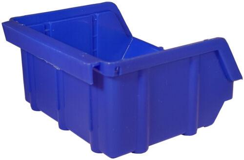 80 Stapelboxen Kunststoff PP Gr.1 blau Sichtlagerkästen Stapelkästen