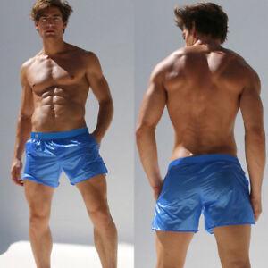 Fashion-Sweatpants-Men-039-s-Translucent-Shorts-Casual-Men-Beach-Swimming-Trousers
