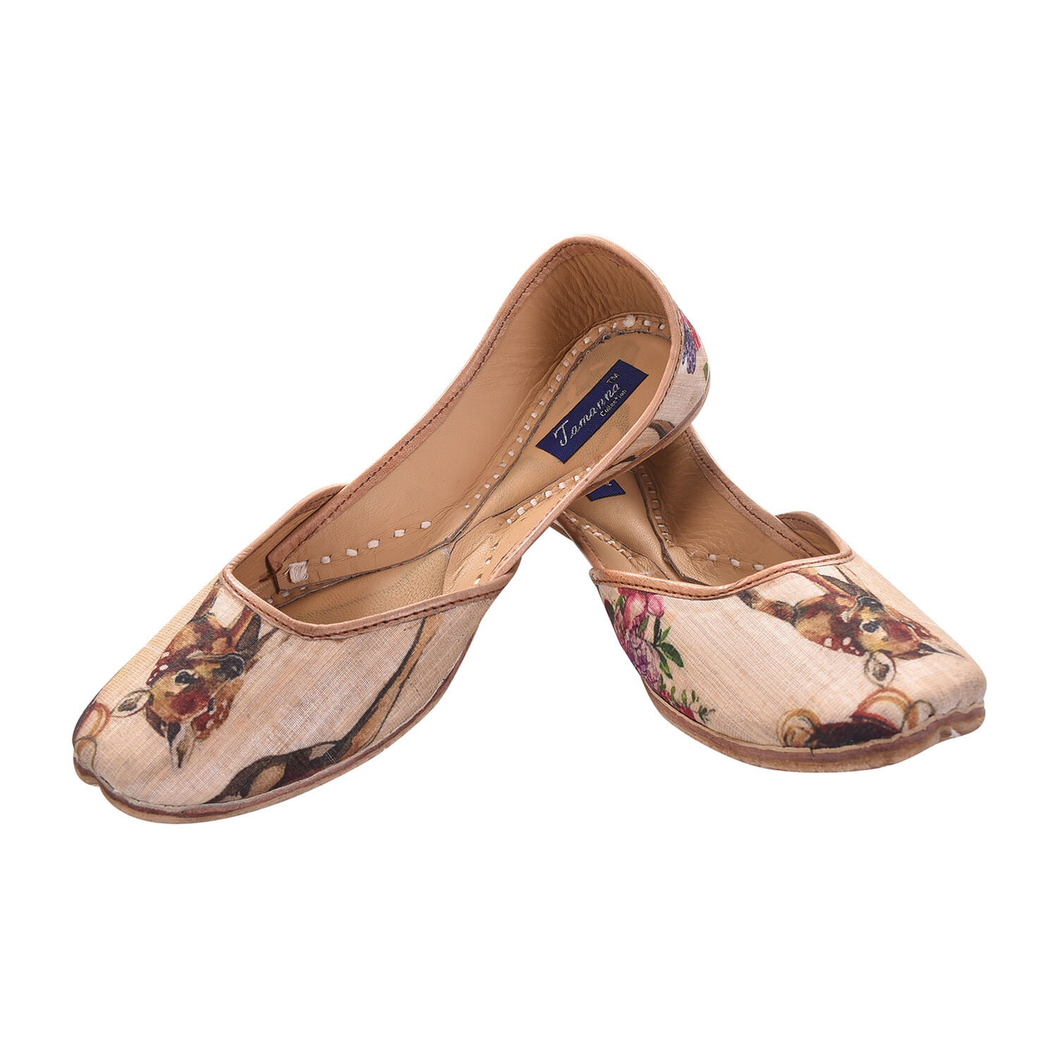 US Size 9 Multicolor Indian Handcrafted Ethnic Khussa Leather Mojari Multicolor 9 For Women bc4892