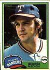 1981 Topps George Medich #702 Baseball Card