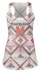 Maryland Terrapins Burnout Tank Womens Medium Semi Sheer Student Shirt NEW Run