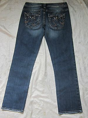 Constructive Nwot Silver Pioneer Flood Women's Jeans Back Pocket Flaps Thick Stitch 27 X 28 Clothing, Shoes & Accessories Women's Clothing