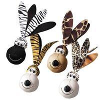 Floppy Ears Wubbas Safari Tough Toys For Dogs Shake & Squeak Dog Toy With Balls