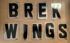 Vintage Acrylic Marquee Letters 4 Zcm 24 Letters B R E K W I N G S