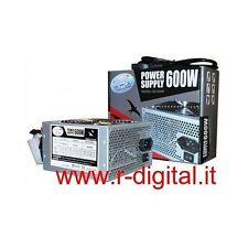 ALIMENTATORE PC VULTECH ATX 600 WATT 24Pin 12Cm FAN SATA PCI COMPUTER SILENZIOSO