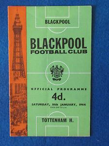 Blackpool-v-Tottenham-Hotspur-18-1-64-Programme