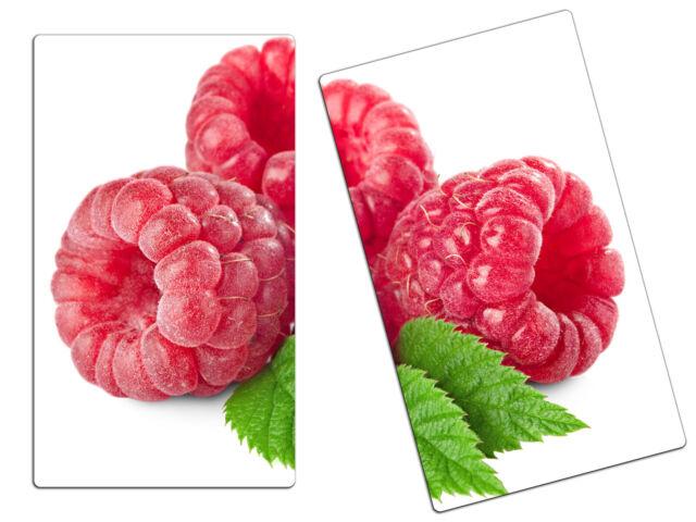 Herdabdeckplatte aus Glas Schneidebrett Spritzschutz HA80892111 Erdbeeren Milch