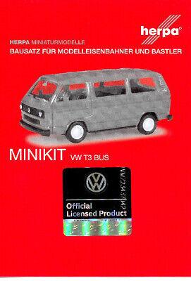 unbedruckt ultramarinblau 013093a Herpa Minikit VW T3 Bus