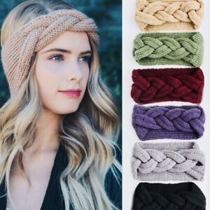 UK-Women-039-s-Braided-Knitted-Ear-Warmer-Wrap-Turban-Headband-Crochet-Wool-Hairband