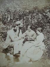 PHOTO STEREO FRANCE ENTRAIN DE FILER LA LAINE 1870 albumen stereoview