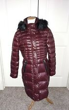 Karl Lagerfeld Paris Faux Fur-Trimmed Down Puffer Coat Nylon Jacket Dize XL New