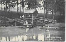 Rustic Bridge and Lake Scene Mt Pocono PA nice postcard postally used in 1910