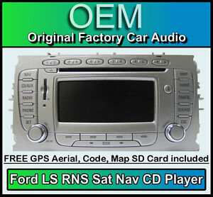 Details about Ford Mondeo Sat Nav car stereo, Ford LS RNS CD player radio +  code & Map SD Card