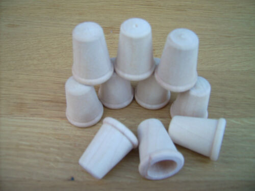 "10x /""THIMBLE/"" Small novelty wooden thimble//pot 15//16/"" diameter  Birch timber"