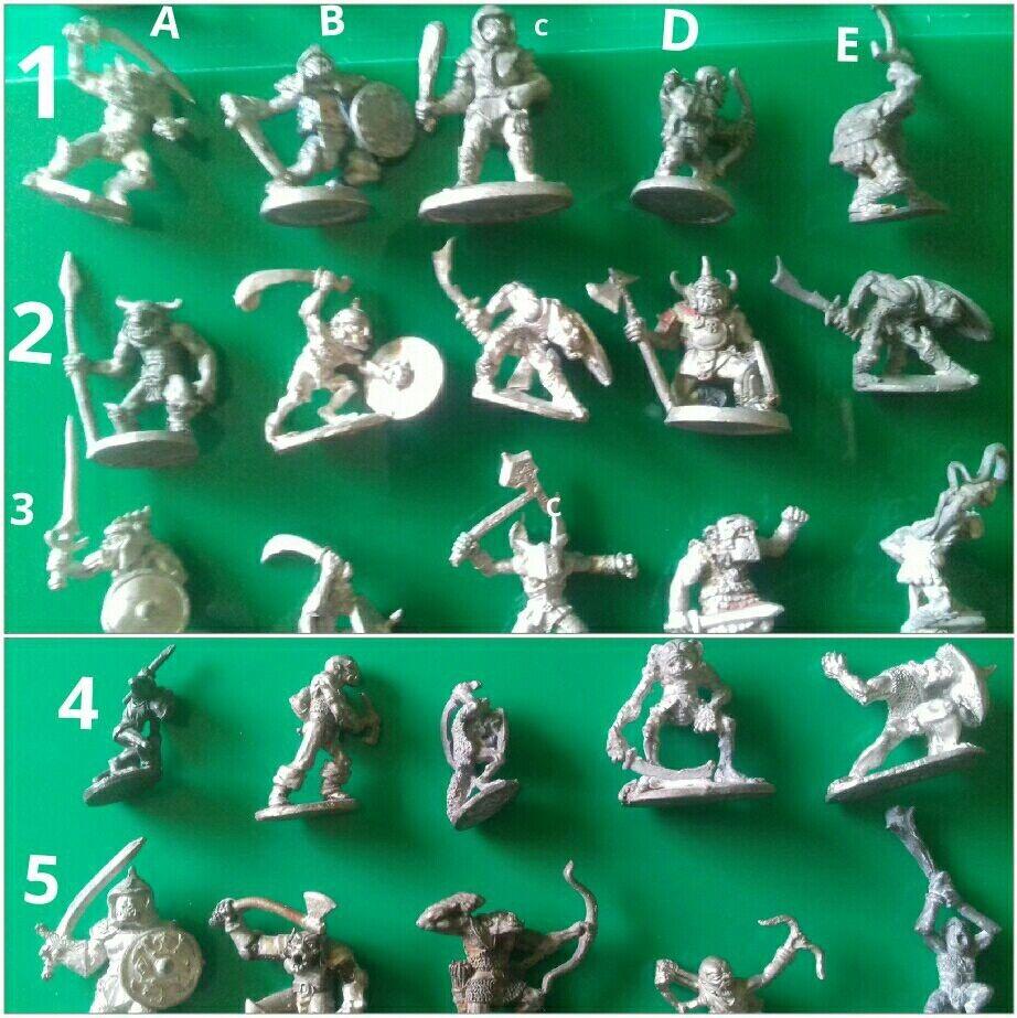 25x Orc goblin & hobgoblin warriors archers ral partha minitures orcs goblins